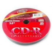 Диск CD-R VS 700Mb 52x Shrink, 10 шт (VSCDRSH1001)