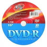 Диск DVD-R VS 4,7 Gb 16x, Shrink 10шт (VSDVDRS1001)