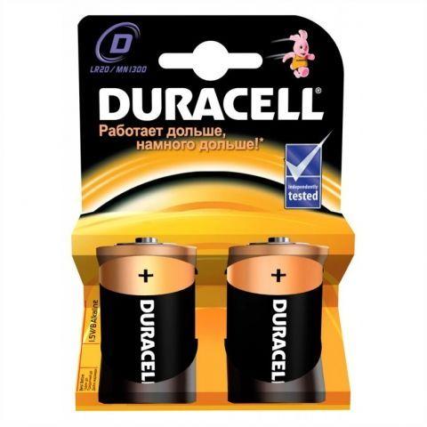 Батарейка D DURACELL LR20-2BL, 2шт, блистер (MN1300)