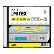 Диск DVD-R Mirex 4,7 Gb 16x, Slim Case