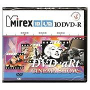 Диск DVD-R Mirex 4,7 Gb 16x Cinema Show