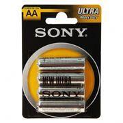 Батарейка AA SONY NEW Ultra R6-4BL, солевая, 4шт, блистер