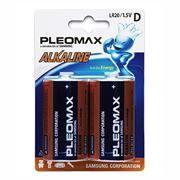 Батарейка D SAMSUNG PLEOMAX LR20-2, 2шт, блистер