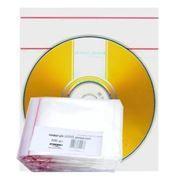 Конверт прозрачный на 1 компакт-диск А-МЕДИА, двойной скотч, 500шт (БОПП)