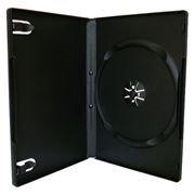 BOX 1 DVD Slim 9mm, черный, глянцевая пленка (коробочка на 1 DVD)