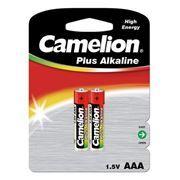 Батарейка AAA CAMELION Plus Alkaline LR03-2BL, щелочная, 2 шт, блистер