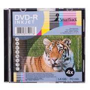 Диск Mini DVD-R Smarttrack 1,4Gb Printable, Slim Case