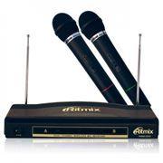 Микрофон RITMIX RWM-220, 2 беспроводных микрофона, до 30 метров