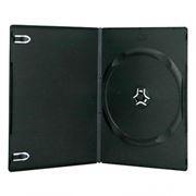 BOX 1 DVD Slim 7mm, черный, глянцевая пленка  (коробочка на 1 DVD)