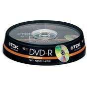 Диск DVD-R TDK 4,7 Gb 16x, Cake Box, 10шт (t19415)