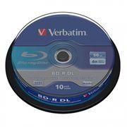 Диск BD-R Verbatim 50 Gb 6x, Cake Box, 10 шт (43746)
