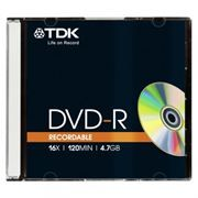 Диск DVD-R TDK 4,7 Gb 16x, Slim Case