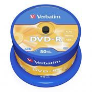 Диск DVD-R Verbatim  4,7 Gb 16x, Cake Box, 50шт (43548)