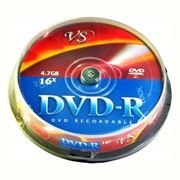 Диск DVD-R VS 4,7 Gb 16x, Cake Box, 10шт (VSDVDRCB1001)