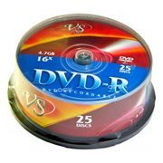 Диск DVD-R VS 4,7 Gb 16x, Cake Box, 25шт (VSDVDRCB2501)