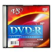 Диск DVD-R VS 4,7 Gb 16x, Slim Case (VSDVDRSL501)