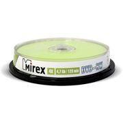 Диск DVD-RW MIREX 4,7 Gb 4x, Cake Box, 10шт