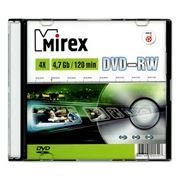 Диск DVD-RW MIREX 4,7 Gb 4x, Slim Case