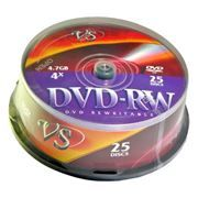 Диск DVD-RW VS 4,7 Gb 4x, Cake Box, 25шт (VSDVDRWCB2501)