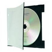 BOX 1 CD Clip Tray 3мм A-Media (бумажный верх, перфорация)