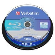 Диск BD-R Verbatim 25 Gb 6x, Cake Box, 10 шт (43742)
