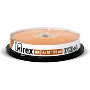 Диск DVD+R MIREX 4,7 Gb 16x, Cake Box, 10шт