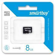 Карта памяти Micro SDHC 8Gb SmartBuy Class 4 без адаптеров (SB8GBSDCL4-00)