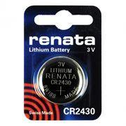 Батарейка CR2430 Renata, 1 шт, блистер