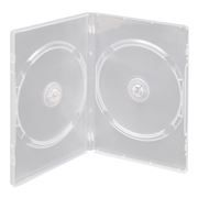 BOX 2 DVD Slim 7mm, прозрачный, глянцевая пленка (коробочка на 2 DVD)