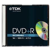 Диск DVD+R TDK 4,7 Gb 16x, Slim Case (t19447)