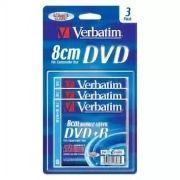 Диск Mini DVD+R Verbatim 2.6Gb 2.4x 55 min, 3 шт, блистер