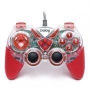 Геймпад DIALOG GP-A13EL USB, подсветка, красный