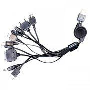 Набор адаптеров Gembird A-USBTO11 USB с рулеткой, для зарядки мобильных