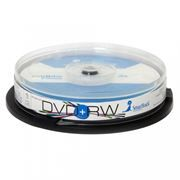 Диск DVD+RW SMARTTRACK 4,7 Gb 4x, Cake Box, 10шт (ST000302)
