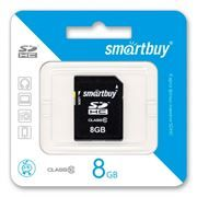 Карта памяти SDHC 8Gb SmartBuy Class 10 (SB8GBSDHCCL10)