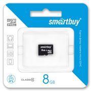 Карта памяти Micro SDHC 8Gb SmartBuy Class 10 без адаптера (SB8GBSDCL10-00)