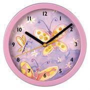 Часы настенные Hama Butterfly, диаметр 20.8 см, розовые (H-106932)