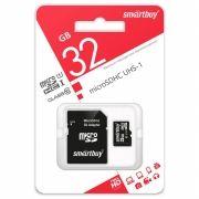 Карта памяти Micro SDHC 32Gb SmartBuy Class 10 + адаптер SD (SB32GBSDCL10-01)