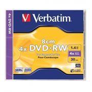 Диск Mini DVD+RW VERBATIM 1,4Gb 4x, Slim Case (43564/43565)